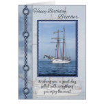 Brother Yacht Birthday Greeting Greeting Card