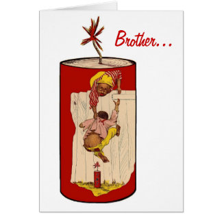 Brother, You're Dynamite! Vintage Black Americana Greeting Card