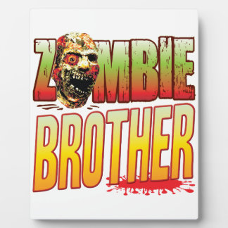Brother Zombie Head Photo Plaques
