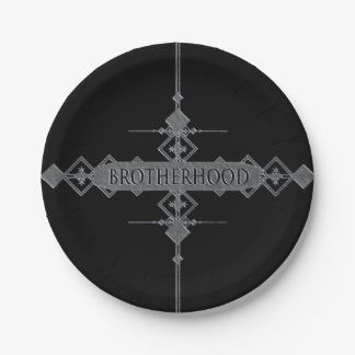 Brotherhood concept. 7 inch paper plate