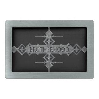 Brotherhood concept. belt buckles
