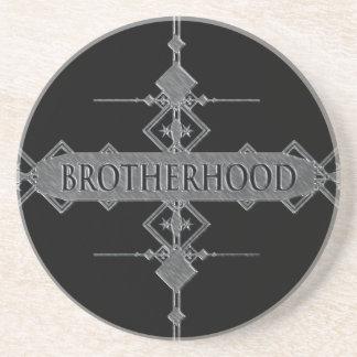Brotherhood concept. coaster