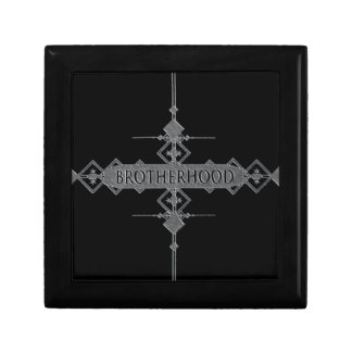 Brotherhood concept. gift box