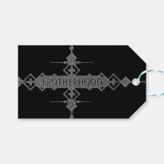 Brotherhood concept. gift tags