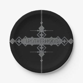 Brotherhood concept. paper plate