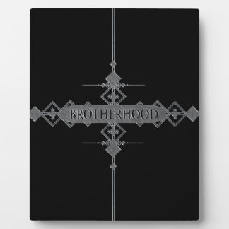Brotherhood concept. plaque