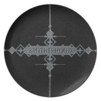 Brotherhood concept. plates