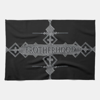Brotherhood concept. tea towel