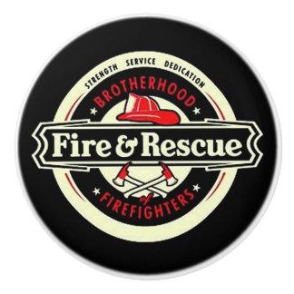 Brotherhood Firefighters Ceramic Knob