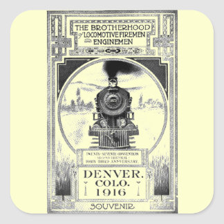 Brotherhood of Locomotive Firemen and Enginemen Square Sticker