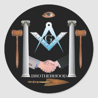 Brotherhood Round Sticker