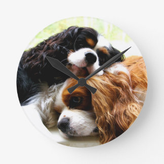 Brothers Cavaliers Round Clock