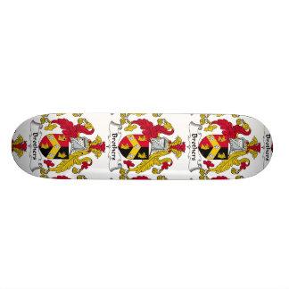 Brothers Family Crest Custom Skateboard