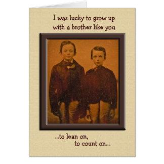 Brothers Humorous Birthday Card