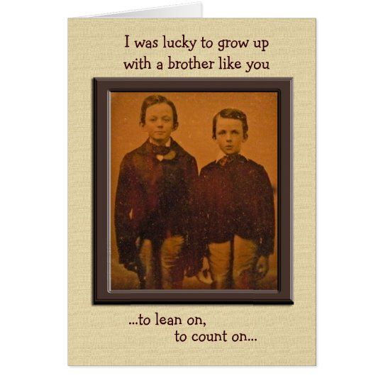 Brothers Humourous Birthday Card