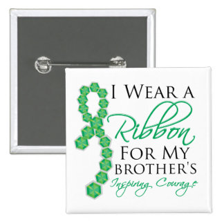 Brother's Inspiring Courage - Liver Cancer 15 Cm Square Badge