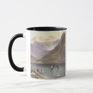 Brothers Water, detail of ice skaters, from 'The E Mug