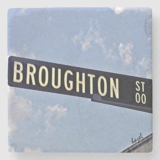 Broughton Street, Savannah, Georgia Marble Coaster