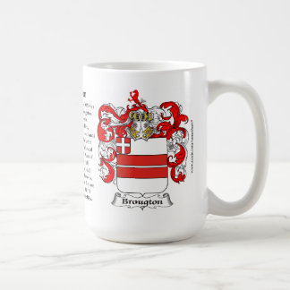 Broughton, the Origin, the Meaning and the Crest Classic White Coffee Mug