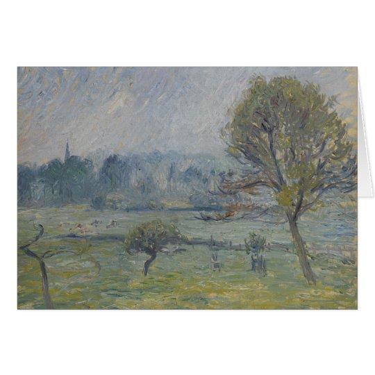 Brouillard à Éragny by Camille Pissarro Card