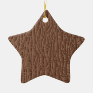 Brown Abstract Background Christmas Ornament