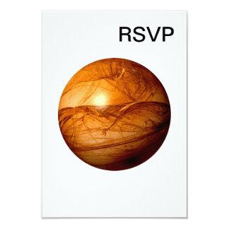 Brown Abstract Globe 9 Cm X 13 Cm Invitation Card