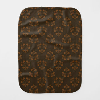 Brown abstract pattern baby burp cloth