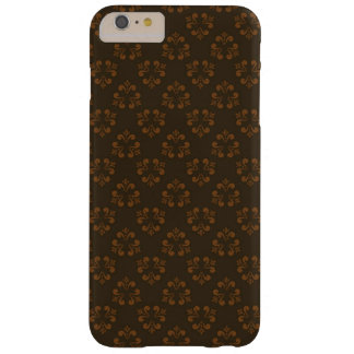 Brown abstract pattern barely there iPhone 6 plus case