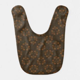 Brown abstract pattern bib