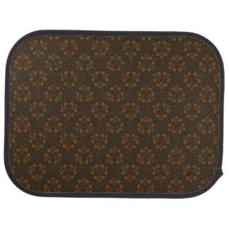 Brown abstract pattern car mat