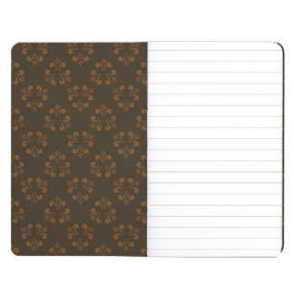 Brown abstract pattern journal