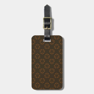Brown abstract pattern luggage tag