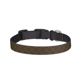 Brown abstract pattern pet collar