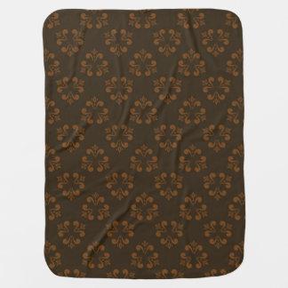 Brown abstract pattern pramblankets