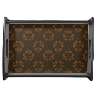 Brown abstract pattern serving tray