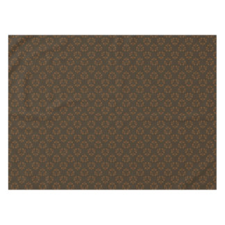 Brown abstract pattern tablecloth