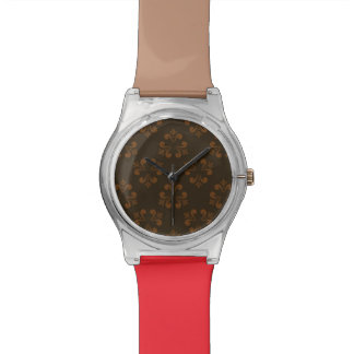 Brown abstract pattern wristwatches