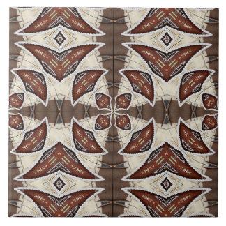 Brown Abstract Tile