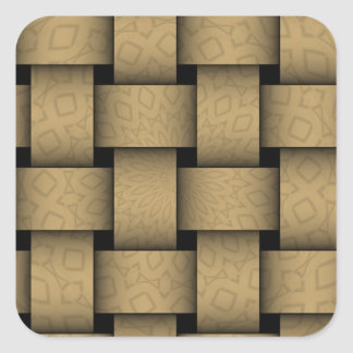 Brown abstract weave pattern stickers