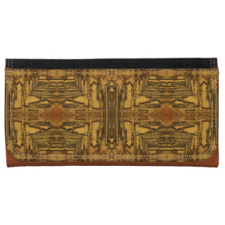 brown abstract wood pattern wallets