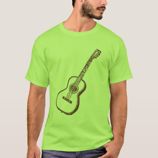 Brown Acoustic Classical Guitar T-Shirt