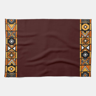Brown African Art Kitchen Towel