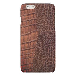 Brown Alligator Classic Reptile Leather (Faux) iPhone 6 Plus Case