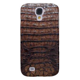 Brown Alligator Skin Print Galaxy S4 Case