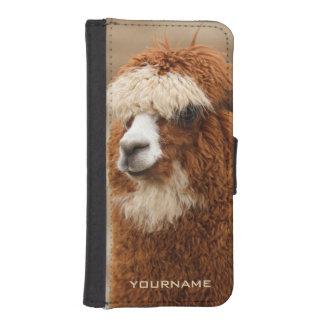 Brown Alpaca custom phone wallets