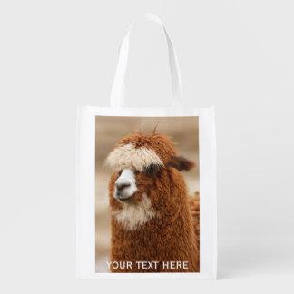 Brown Alpaca custom reusable bag