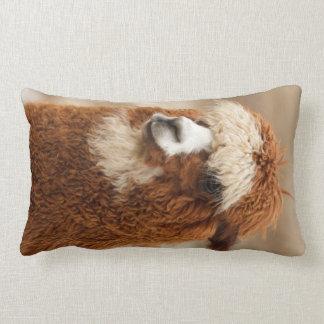 Brown Alpaca custom throw pillow