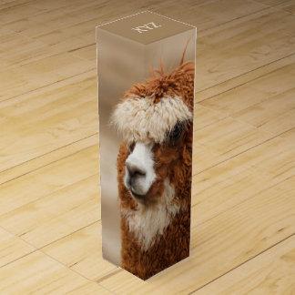 Brown Alpaca custom wine gift box
