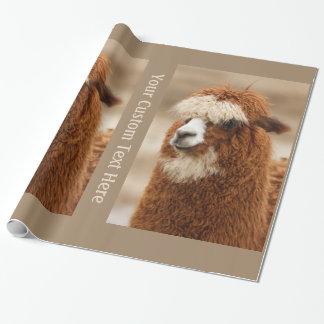 Brown Alpaca custom wrapping paper