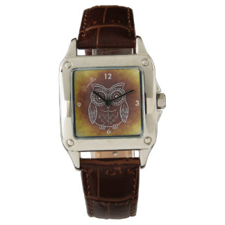 Brown Amber Owl Watch Name